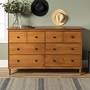 W. Trends 6 Drawer Solid Wood Youth Dresser - Caramel