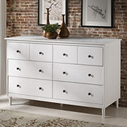 W. Trends 6 Drawer Solid Wood Youth Dresser - White