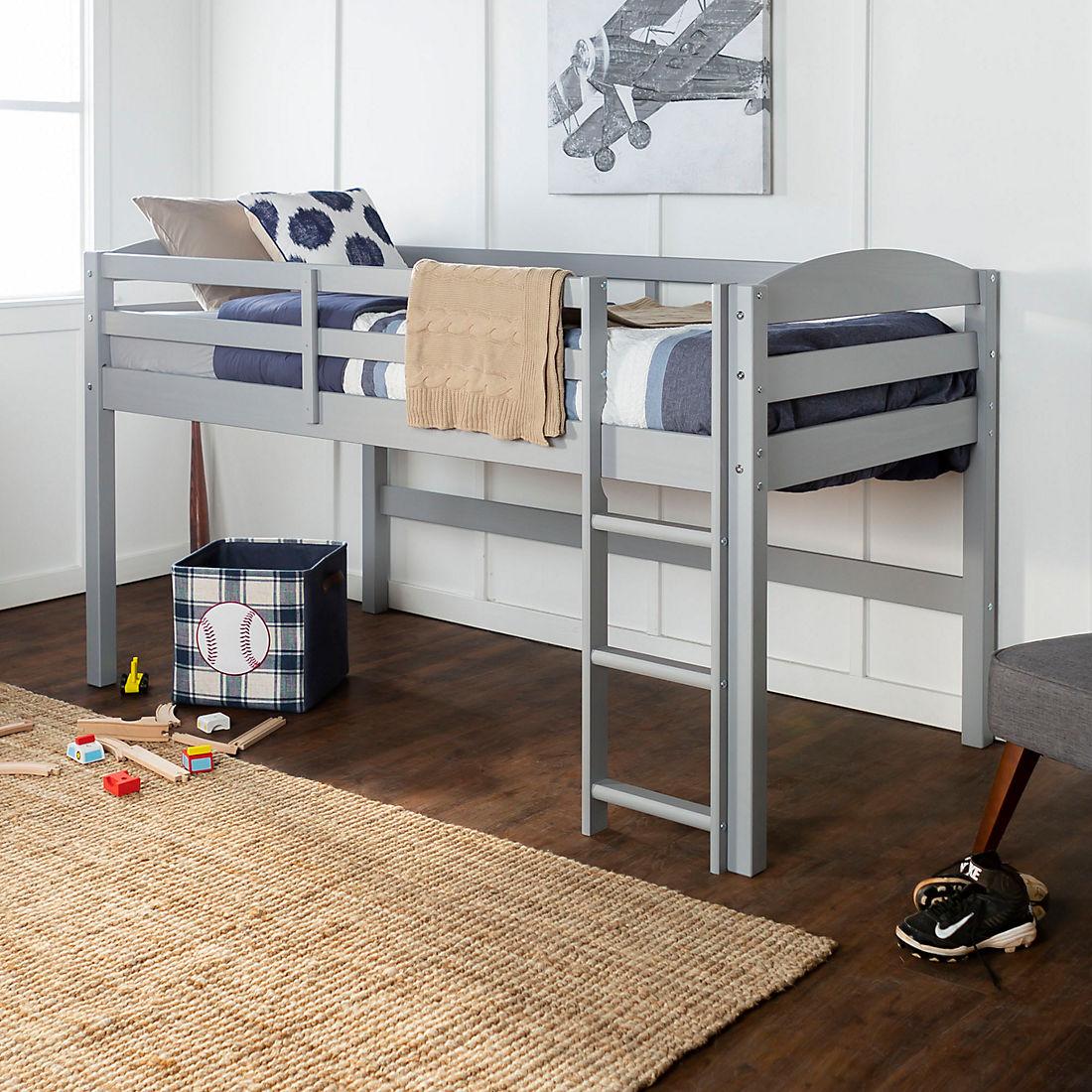 W Trends Twin Solid Wood Low Loft Bed Bjs Wholesale Club