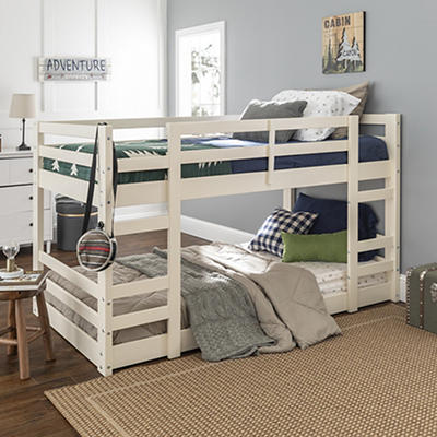 W. Trends Twin Solid Wood Bunk Bed - White