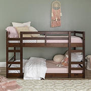 W. Trends Twin Solid Wood Bunk Bed - Walnut
