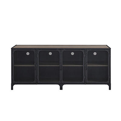 "W. Trends Industrial 60"" Media Sideboard Storage Console - Gray Wash"