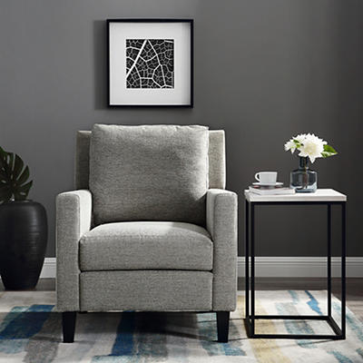 W. Trends Linen Upholstered Accent Chair - Heather Gray