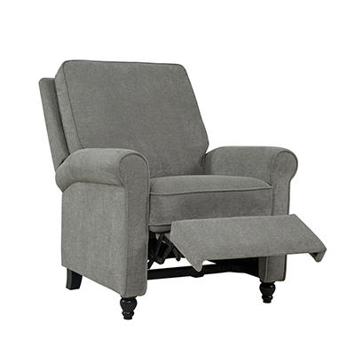 ProLounger Push Back Chenille Recliner Chair - Warm Gray
