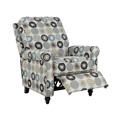 ProLounger Push Back Chenille Recliner Chair - Taupe Multi-Starburst