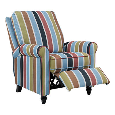 ProLounger Push Back Recliner Chair - Vibrant Multi-Stripe
