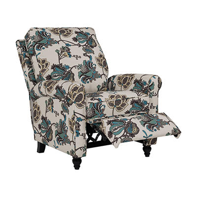 ProLounger Push Back Recliner Chair - Cool Multi-Floral