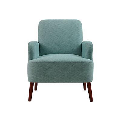 Handy Living Lambert Arm Chair - Aqua Green Tweed