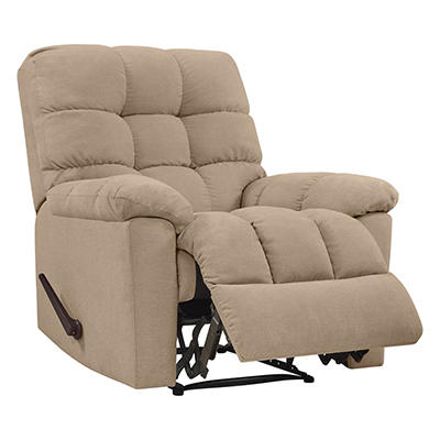 ProLounger Wall Hugger Plush Low-Pile Velvet Reclining Chair - Barley