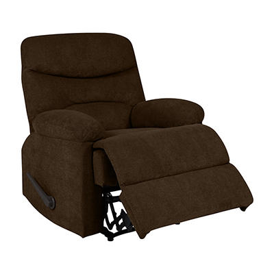 ProLounger Wall Hugger Chenille Recliner - Chocolate Brown