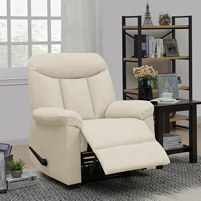 ProLounger Wall Hugger Tuff Stuff Recliner - Off-White Almond