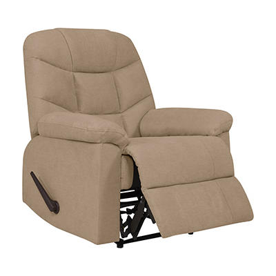 ProLounger Wall Hugger Plush Low-Pile Velvet Recliner - Barley Tan