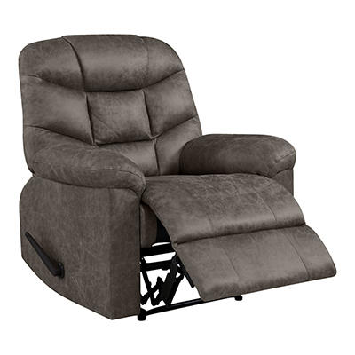 ProLounger Wall Hugger Distressed Faux Leather Recliner - Gray