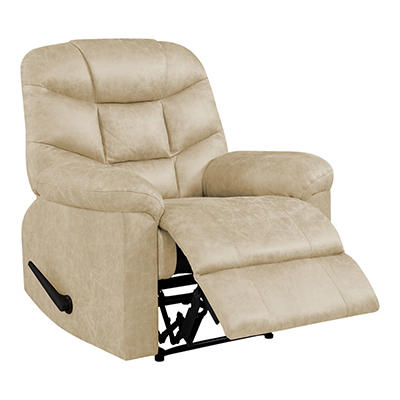 ProLounger Wall Hugger Distressed Faux Leather Recliner - Tan