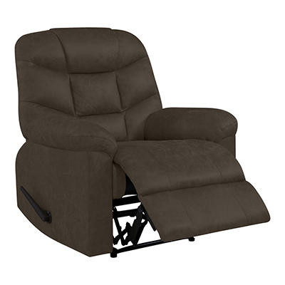 ProLounger Wall Hugger Distressed Faux Leather Recliner - Brown