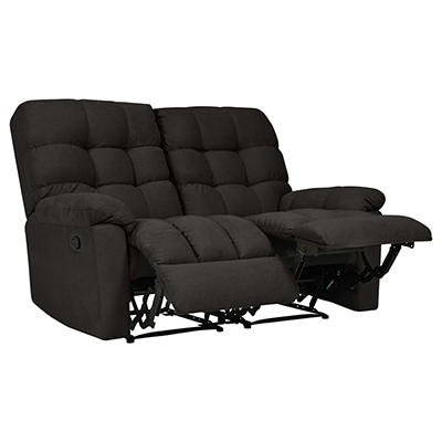 ProLounger Tufted Plush Low-Pile Velvet Recliner Loveseat, 2 seats - C
