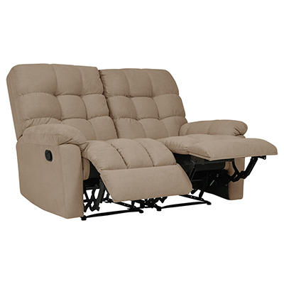 ProLounger Tufted Plush Low-Pile Velvet Recliner Loveseat, 2 seats - B