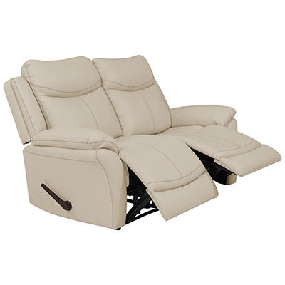 ProLounger Wall Hugger Tuff Stuff Recliner Loveseat, 2 seats - Off-Whi