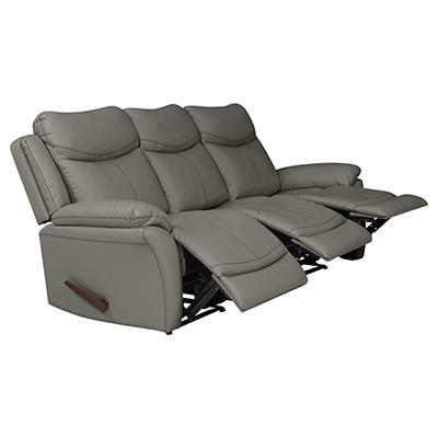 ProLounger Wall Hugger Tuff Stuff Recliner Sofa, 3 Seats - Taupe Gray
