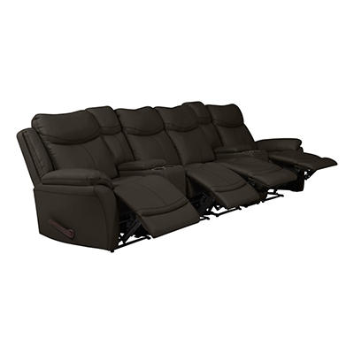 ProLounger Wall Hugger Tuff Stuff Recliner Sofa with 2 Storage Console