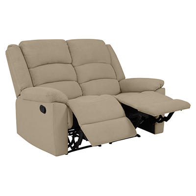 ProLounger Wall Hugger Plush Low-Pile Velvet Recliner Loveseat, 2 seat