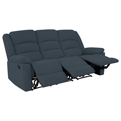 ProLounger Wall Hugger Plush Low-Pile Velvet Recliner Sofa, 3 seats -