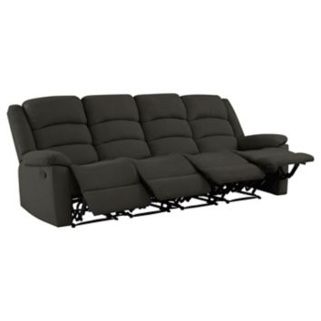 Prolounger Wall Hugger Plush Low Pile Velvet Recliner Sofa 4 Seats