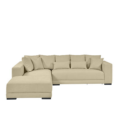 Handy Living Harmony Chenille Sectional, 3 pc. - Creamy Tan