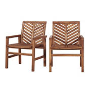 W. Trends Outdoor Acacia Wood Patio Chair - Natural