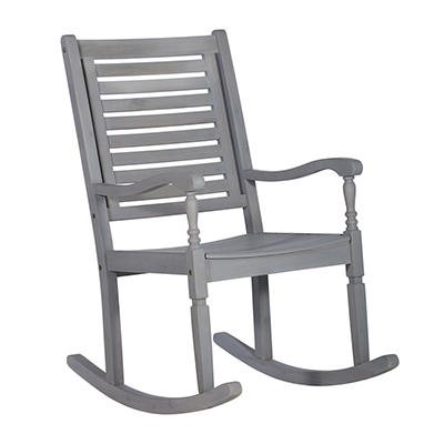 W. Trends Outdoor Acacia Wood Rocking Chair - Gray