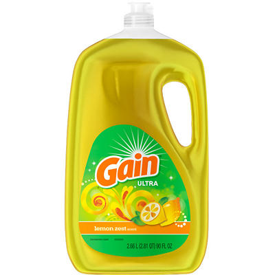 Gain Ultra Lemon Zest Dishwashing Liquid Dish Soap, 90 fl. oz.
