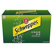 Schweppes Ginger Ale Soda, 36 pk.