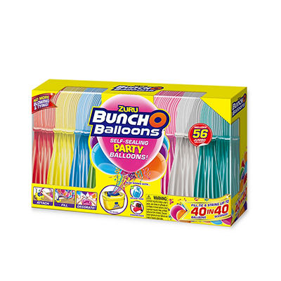 Zuru Bunch O Balloons Self-Sealing Party Balloons, 56 ct.