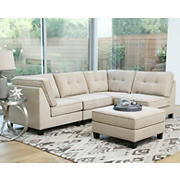 Abbyson Living Kayden 5-Pc. Modular Sectional - Ivory