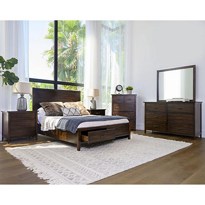 Abbyson Living Lakewood 6-Pc. Bedroom Set - Queen