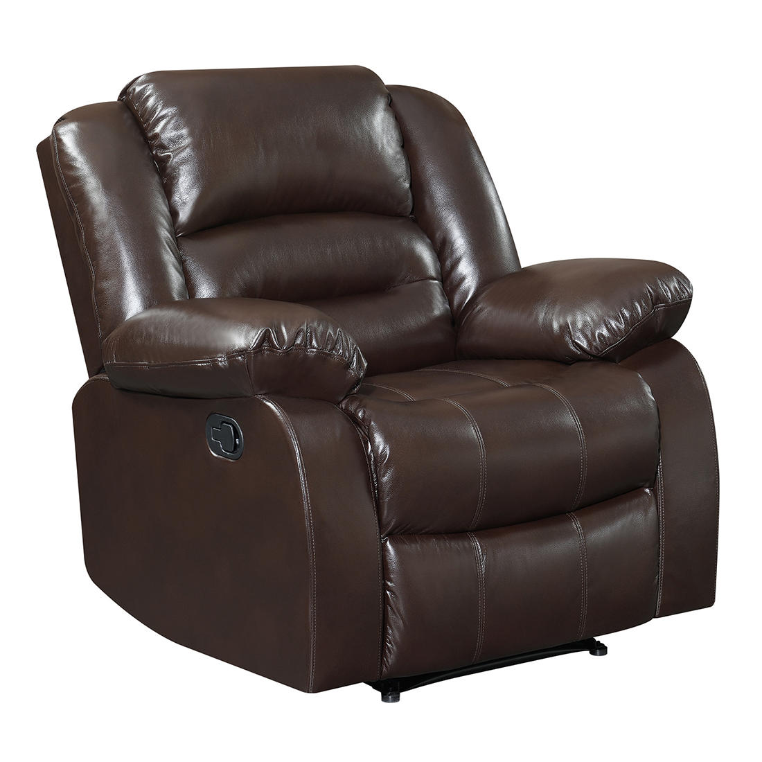 Elements Perth Big Bubba Faux Leather Manual Motion Recliner (Chocolate Brown)