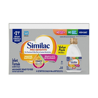 Similac Pro-Sensitive Non-GMO Ready-to-Feed Infant Formula with Iron,
