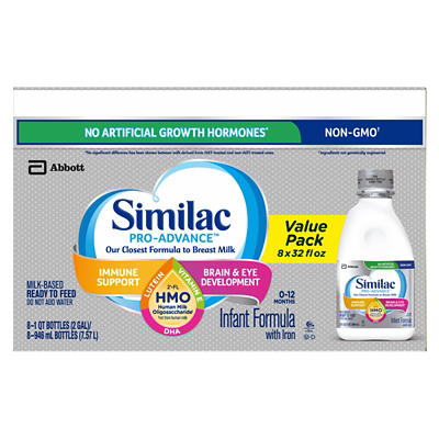 Similac Pro-Advance Non-GMO Ready-to-Feed Infant Formula with Iron, 8