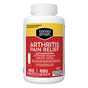 Berkley Jensen Arthritis Pain Relief Caplets, 400 ct.