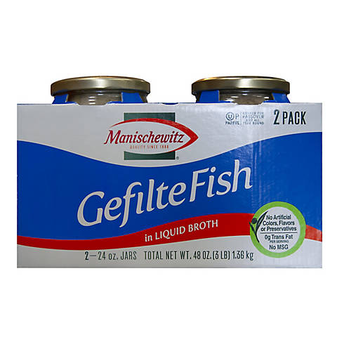 Manishewitz Gefilte Fish 2 Pk 24 Oz