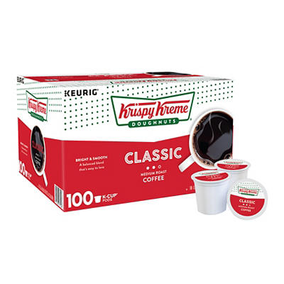 Krispy Kreme Donuts Bright and Smooth Medium Roast Coffee, 100 ct.