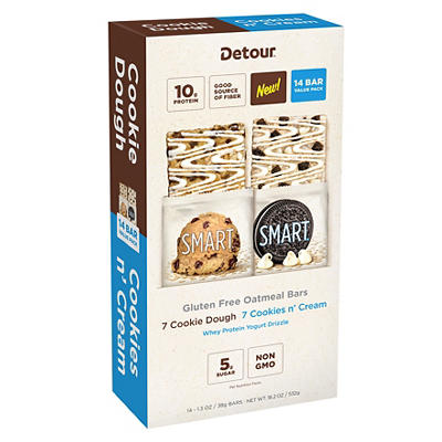 Detour Smart Gluten-Free Variety Oatmeal Bars, 14 ct.