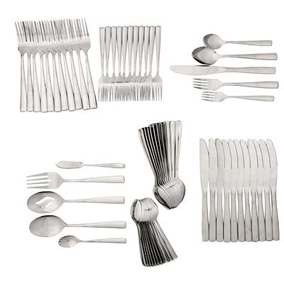 Berkley Jensen 89-Pc. Stainless Steel Flatware Set