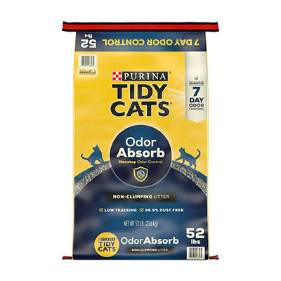 Purina Tidy Cats Nonstop Odor Control Non-Clumping Clay Litter, 52 lbs
