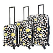 Mia Toro Ekko 3-Pc. Hardside Spinner Luggage Set - Black
