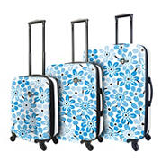 Mia Toro Ekko 3-Pc. Hardside Spinner Luggage Set - Blue