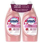 Dawn Ultra Gentle Clean Pomegranate and Rose Water Dishwashing Liquid Dish Soap, 2 pk./34.6 fl. oz.