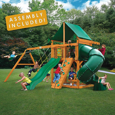 Gorilla Playsets Fairmont Swing Set with Installation
