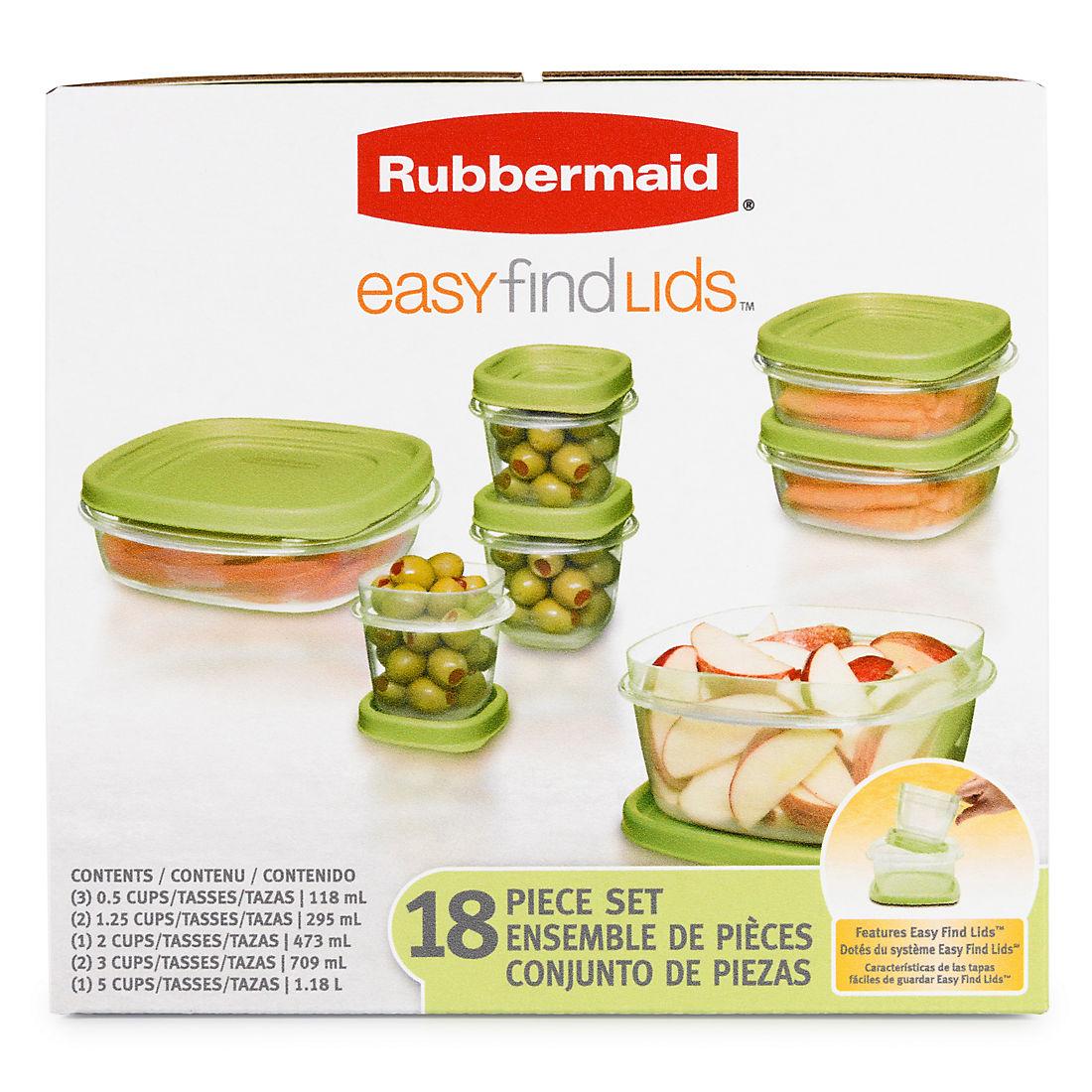 Rubbermaid Easy find Lids  18 pc.set
