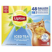 Lipton Unsweetened Gallon-Sized Black Iced Tea Bags, 48 ct.